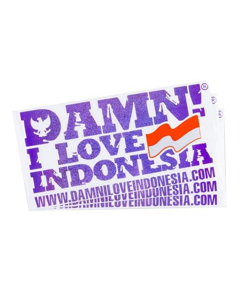 Damn signature hologram sticker purple damn i love indonesia