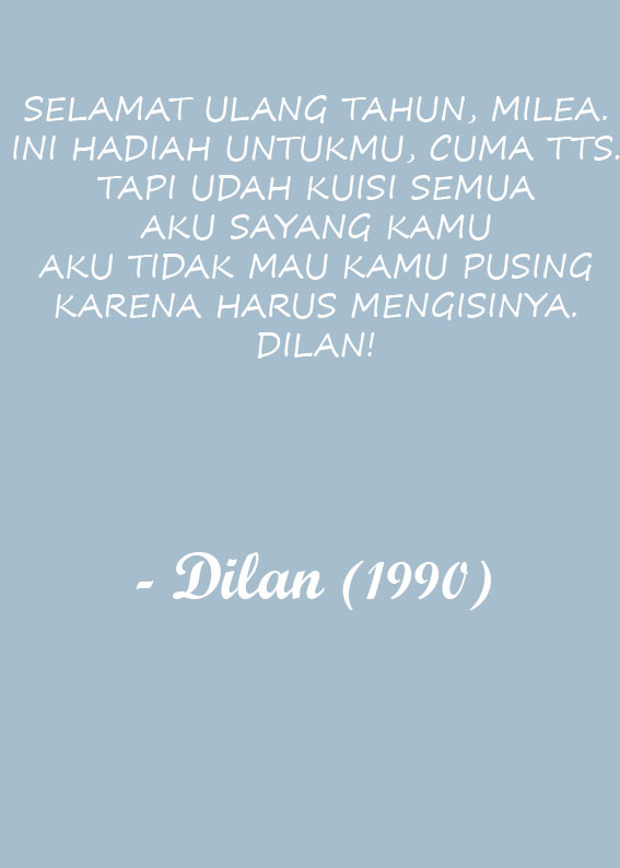 Quotes Romantis Dilan